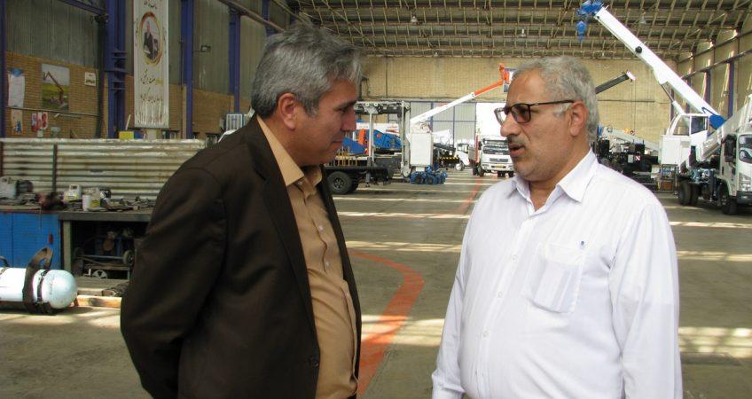 بازدید روسای ترابری خطوط لوله و مخابرات نفت ایران از جرثقیل کارگاهی 35 تن زوملاین